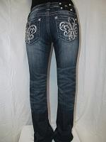 JP6114B Miss Me Boot Cut Denim Jean with Fleur De Lis