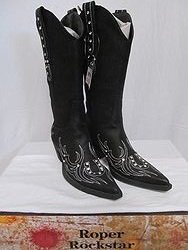 Roper Boots - Black Bling Horseshoe