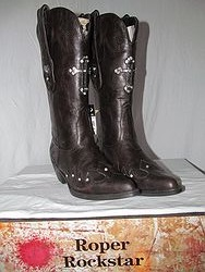 Roper Boots -Brown Cross Bling
