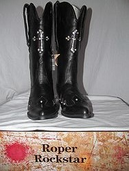 Roper Boots - Black Cross Bling