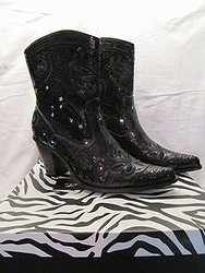 HelensHeart - Black Short Bling Boots