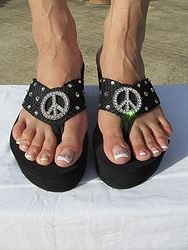 Scandalous Miss Traveled - Peace Flip Flops