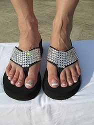 Scandalous Miss Vegas Too - Bling Flip Flops