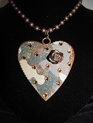 H-2 Custom Bling Necklaces - Custom Heart Necklace