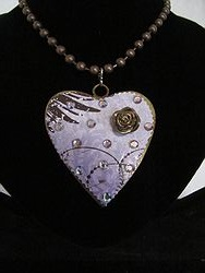 H-5 Custom Bling Necklaces - Custom Heart Necklace