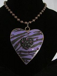 H-9 Custom Bling Necklaces - Custom Heart Necklace