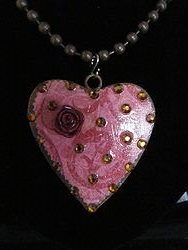 H-13 Custom Bling Necklaces - Custom Heart Necklace