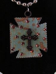 C-17 Custom Bling Necklaces - Custom Cross Necklace
