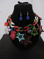 #1 Christmas Necklace W/Earrings