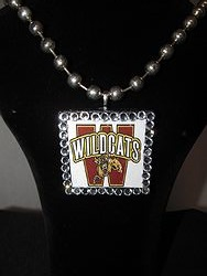 Custom Bling Necklaces -  Wildcats