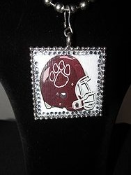 Custom Bling Necklaces - Cy-Fair Helmet w/Paw