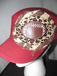 Custom Bling Hat - Marron Football Cadet Hat