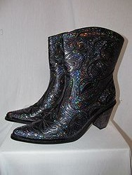 HelensHeart - Black/Blue Short Bling Boots