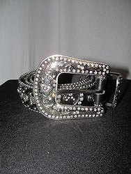 Belt # 17- Black Bling Belt