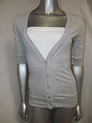 FS7082 Grey - 3/4 Sleeve Button Down Top