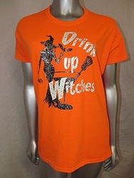 Custom Bling Shirt - Drink Up Witches