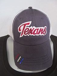 Custom Bling Hat - Script Texans Bling Trucker Hat