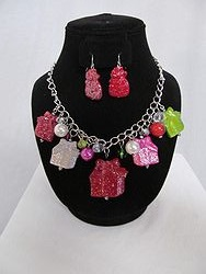 #14 Christmas Necklace W/Earrings