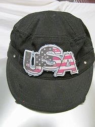 U.S.A. Black Cadet Hat