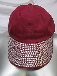 Maroon Bling Hat