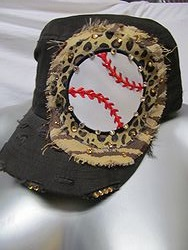 Custom Bling Hat - Black Baseball Cadet Hat With Bling